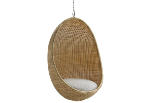 Hanging Egg Chair In Nature W Chain Outdoor Enor Home