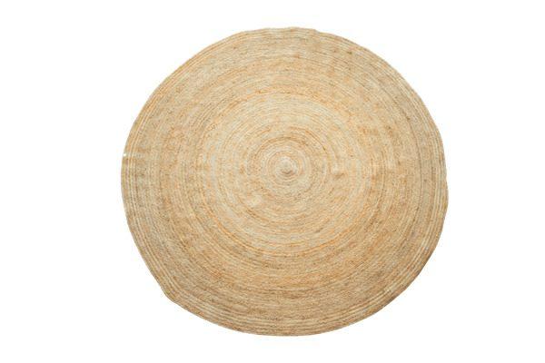 Sika Design Handwoven Round Jute Rug In, Round Straw Rattan Rug
