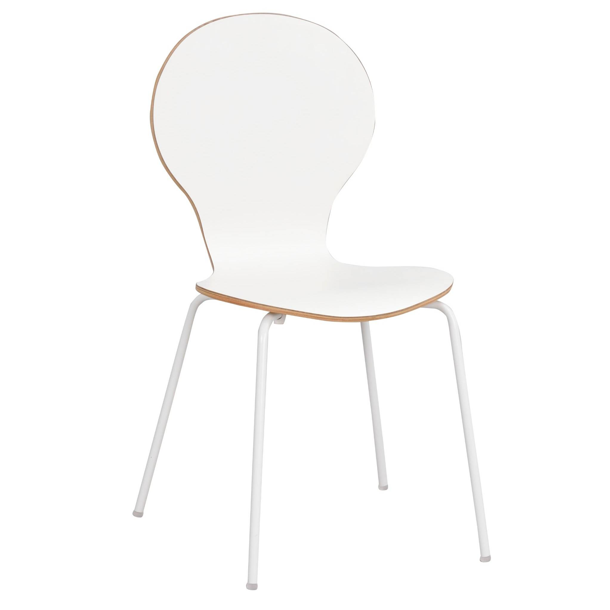 Fusion bentwood chair white laminate oak