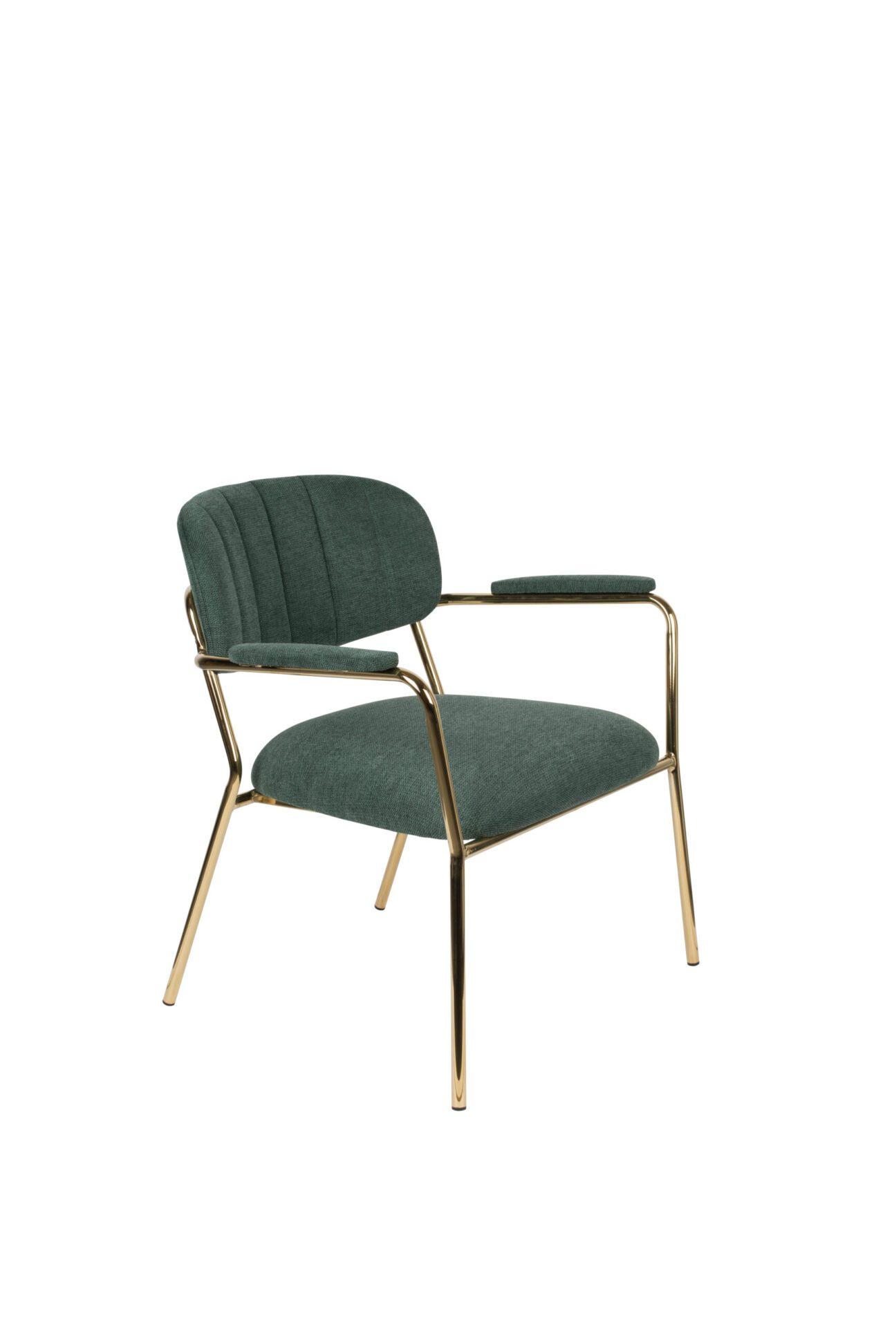 Enor Home Lounge Chair Stella Arm Gold Dark Green Enor Home