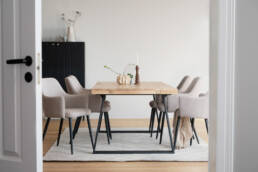 Indoor dining table in oak