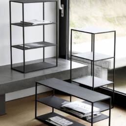 Modern bookcases in black