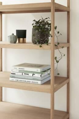 Bookcase in oak